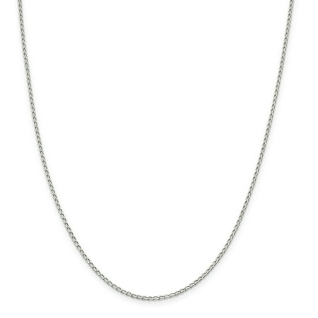 925 Sterling Silver 1.5mm Open Link Chain 18 Inch - image 1 de 5