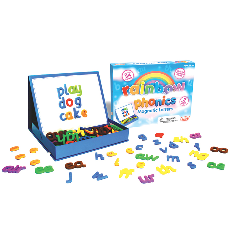 Junior Learning Rainbow Phonics Magnetic Letters and Built-in Magnetic Board