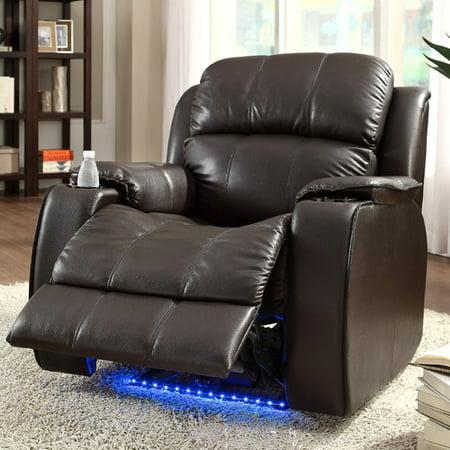 Homelegance Jason Leather Power Recliner With Massage Walmart Com