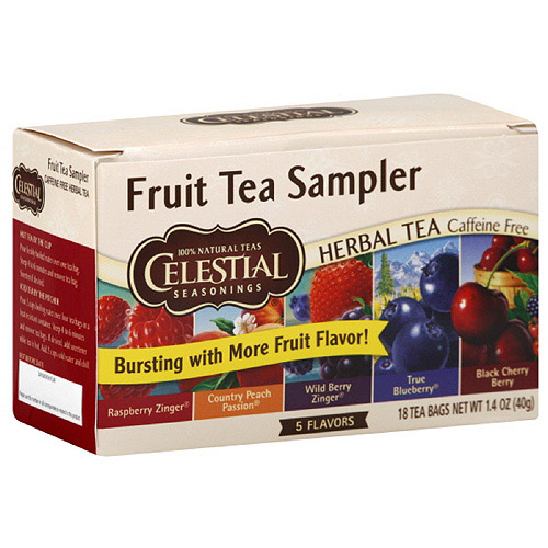 Celestial Seasonings Fruit Tea Sampler, 18ct (Pack of 6)