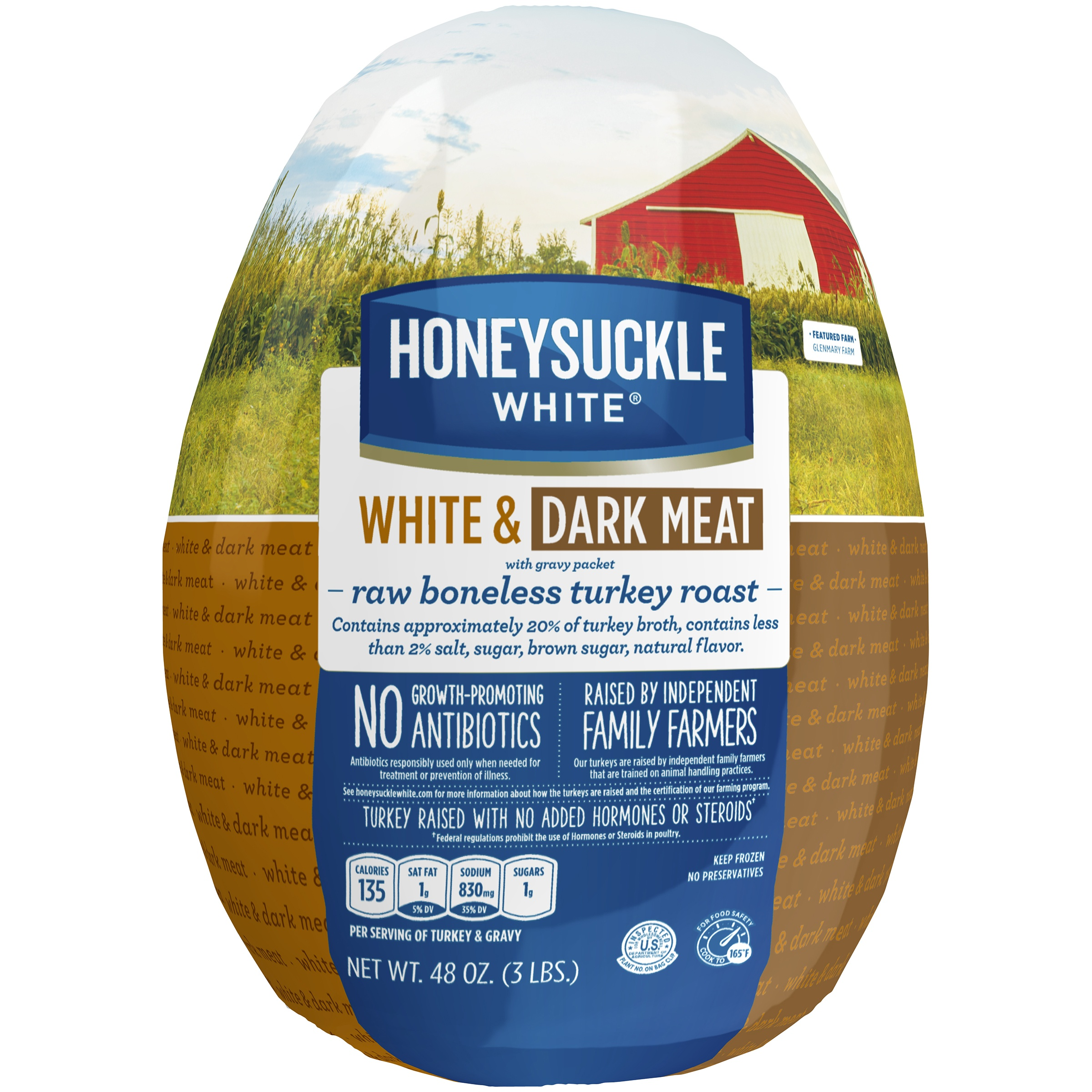 Honeysuckle White Frozen White and Dark Meat Boneless Turkey Roast with Gravy (3 lbs) by Cargill Meat Solutions