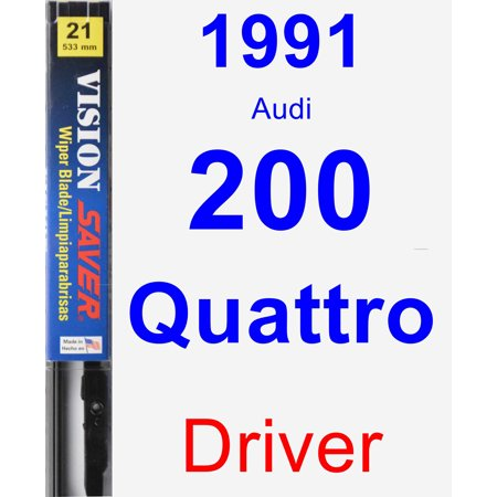 1991 Audi 200 Quattro Driver Wiper Blade - Vision Saver 1991 Audi 200 Turbo