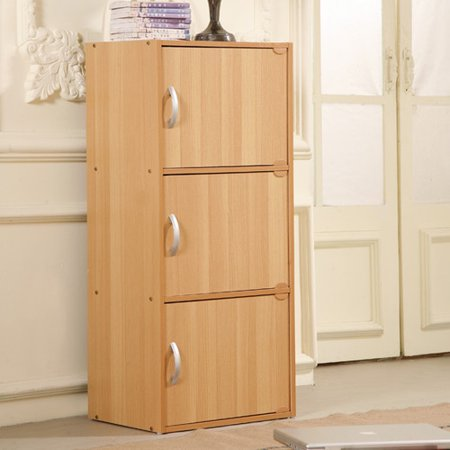 Hodedah 3 door storage cabinet for One day doors and closets reviews