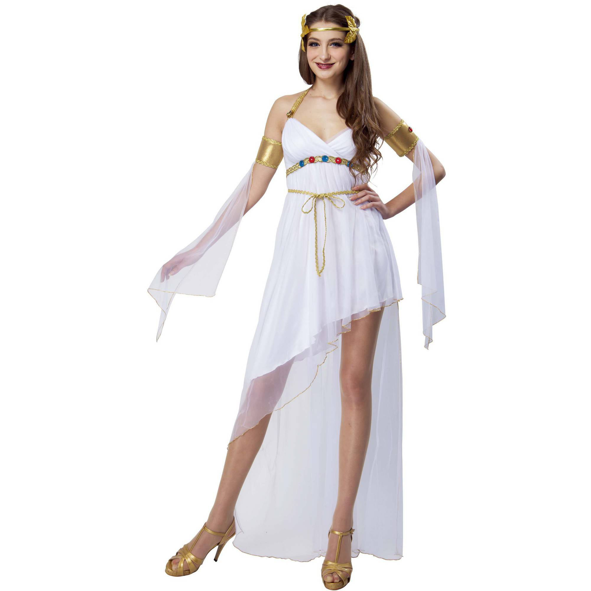 Greek Goddess Adult Halloween Dress Up  Role Play Costume -6102