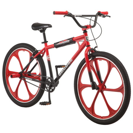Mongoose Grudge Mag BMX Freestyle bike, single speed, 26 inch mag wheel, mens,