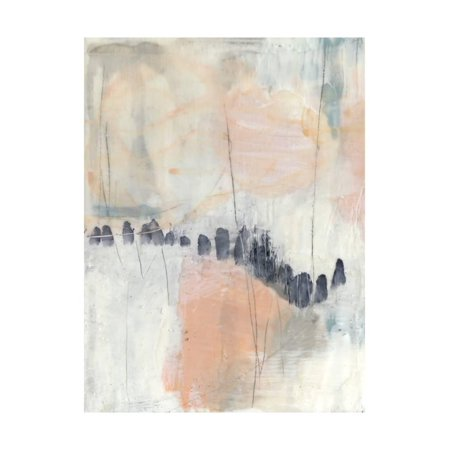 Blush & Navy I Pink Contemporary Abstract Print Wall Art By Jennifer Goldberger (Goldberger Abstract Print)