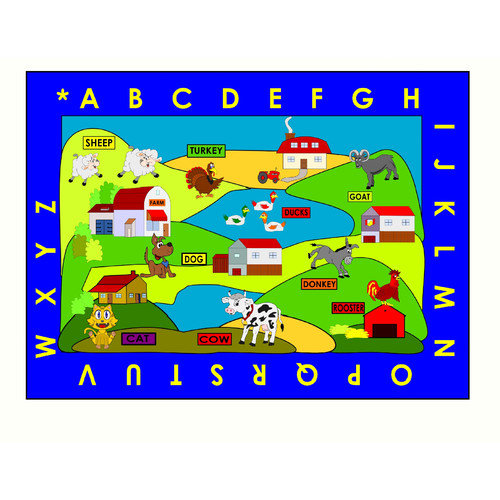 Kids World Carpets Farm Village Area Rug