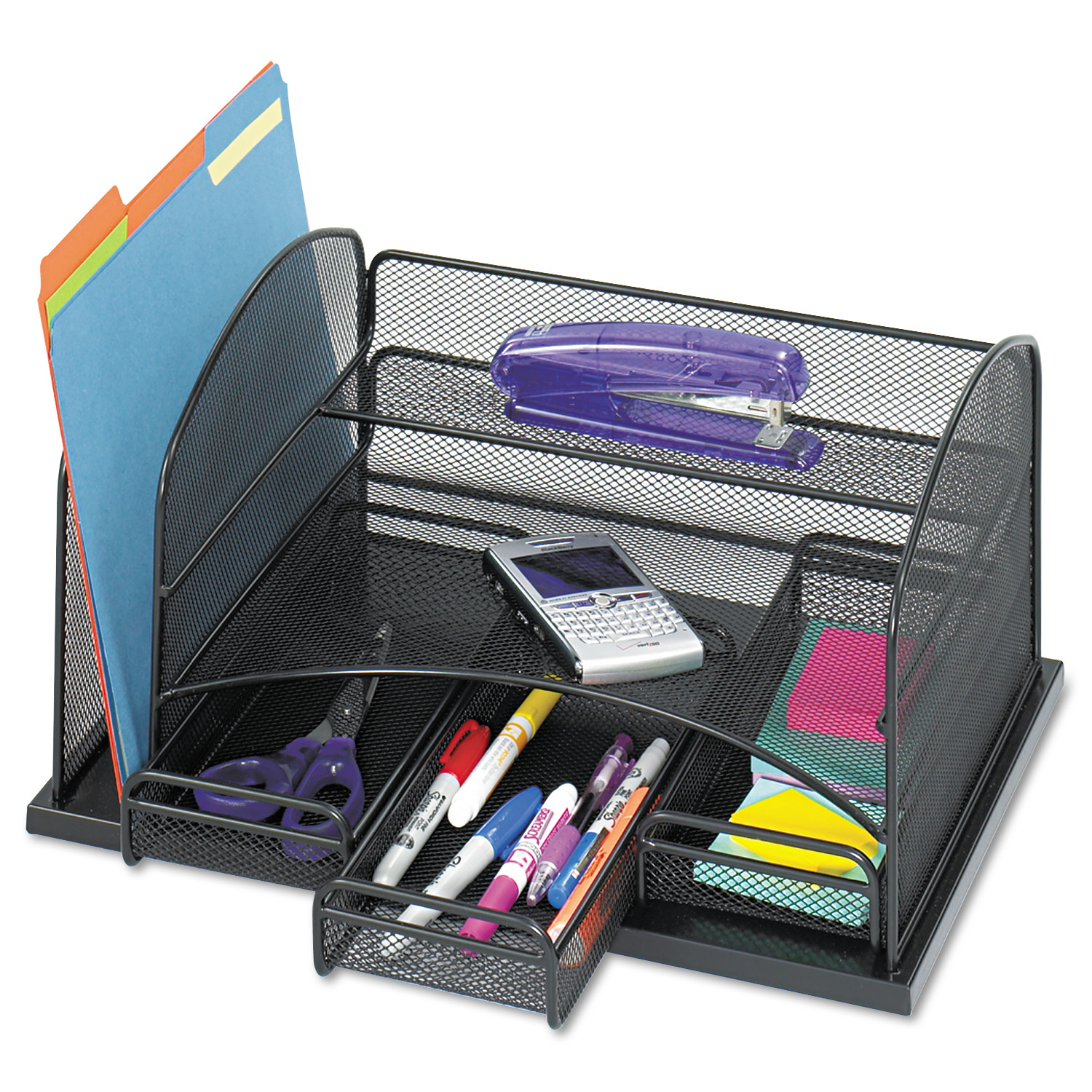 Rubbermaid 12 Slot Organizer Mdf Desktop Sorter Black