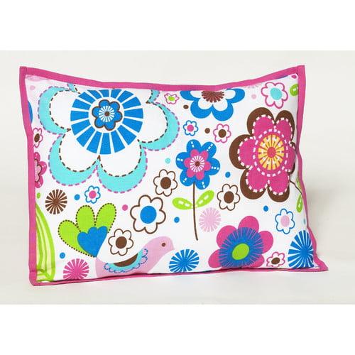 Bacati Botanical Sanctuary Decorative Cotton Throw Pillow