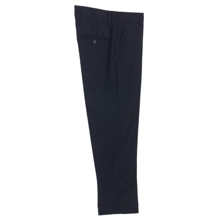 Little Boys Navy Flat Front Formal Special Occasion Dress Pants 2T-7