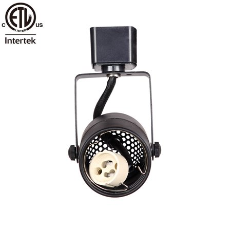 KING SHA Black GU10 Line Voltage Track Lighting Head (Bulb NOT Included)
