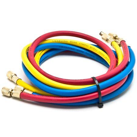 HVAC R12 R22 R502 A/C Diagnostic Manifold Gauge Kit w/ 3 Color 60