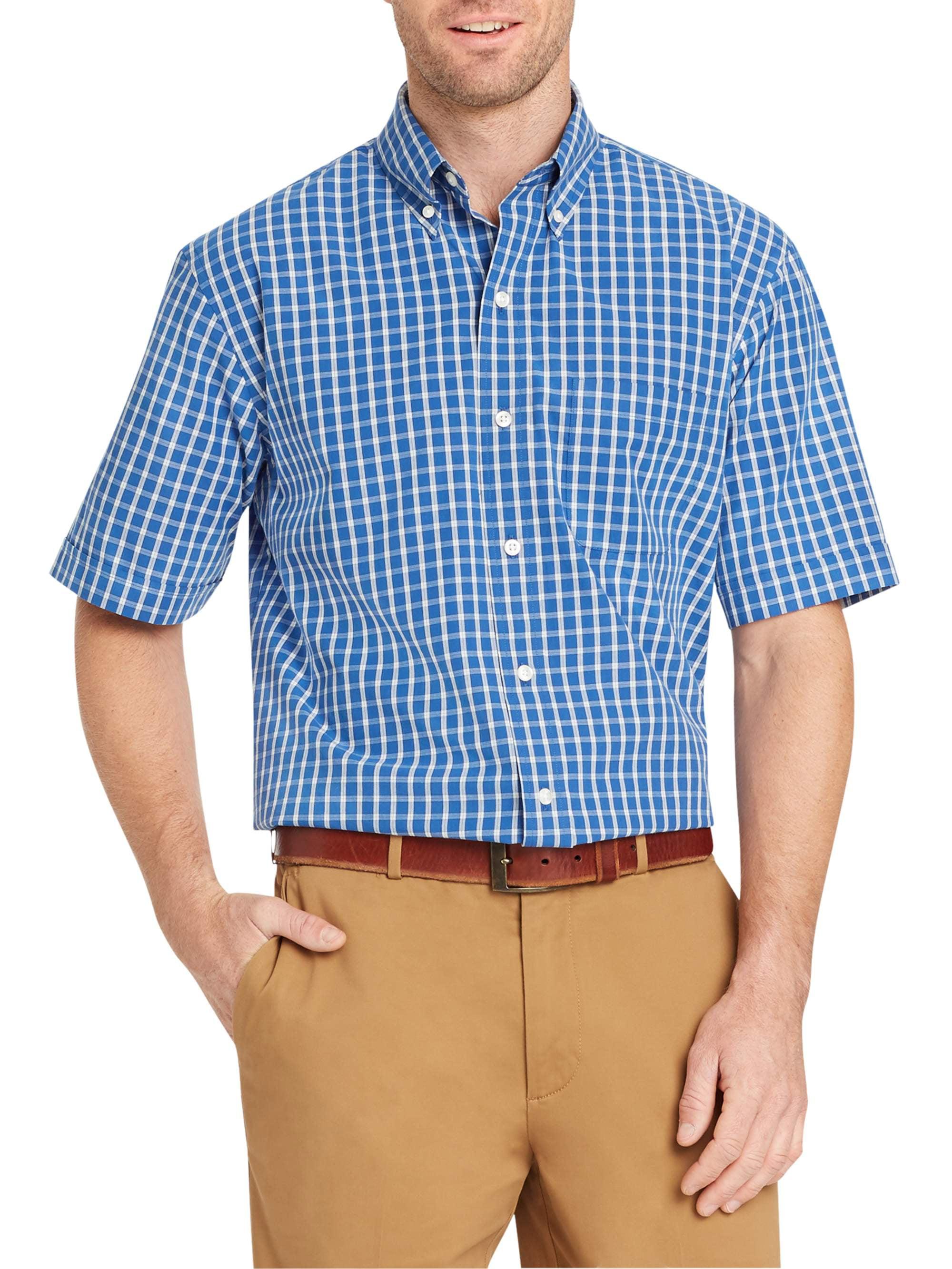Arrow Mens Short Sleeve Hamilton Poplin Shirt Walmart