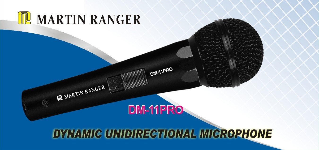 Martin Ranger DM-11 Professional Dynamic Wired Vocal Microphone by Martin Roland
