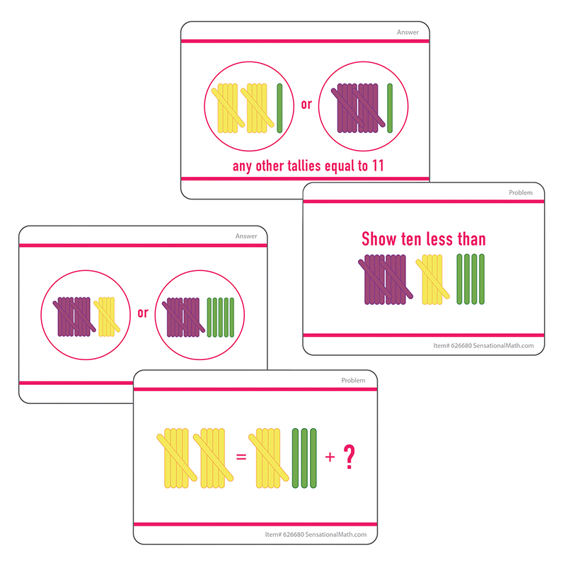 Hands-On Tally Marks Grade 1 Activity Cards Ages 6-7 Essential Learning Products 626680
