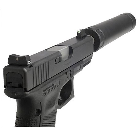 XS Sight Systems 24/7 Big Dot Tritium Sight, Fits Glock 17, 19, 26, 34, 22, 23, 27, 35, 31, 32, 33, 36 Glock Suppressor Height