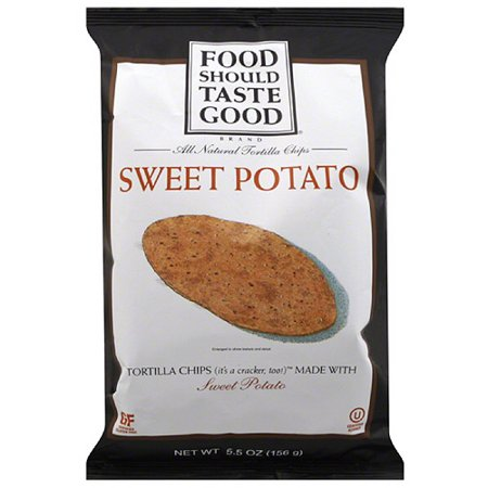 Food Should Taste Good Sweet Potato All Natural Tortilla Chips, 5.5 oz, (Pack of 12)