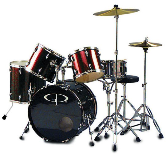 """GP Percussion """"Performer"""" 5 Piece Full Size Drum Set by GP PERCUSSION"""