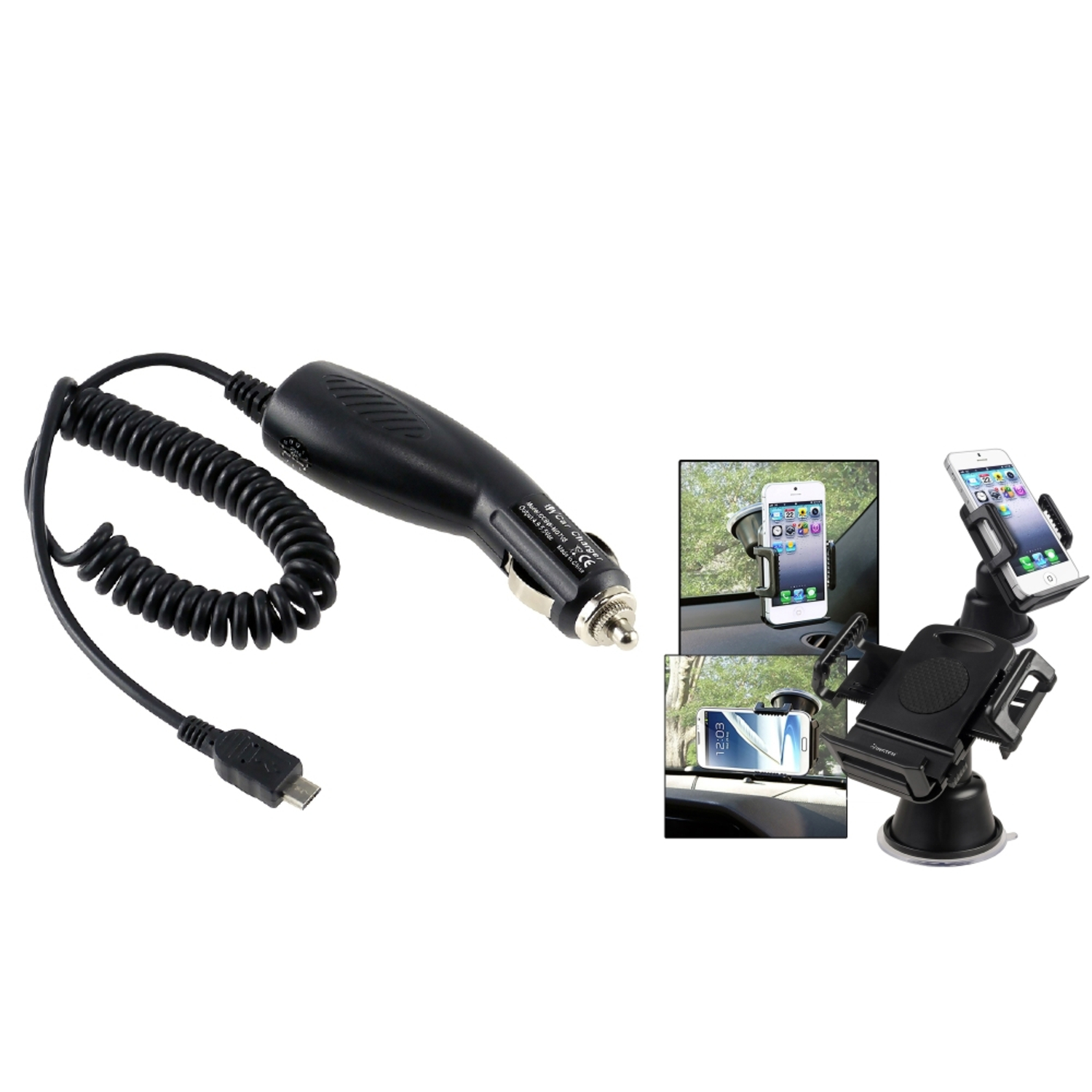 Insten for Samsung GALAXY Note 3 III N9000 CAR CHARGER+Suction Mount