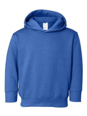 Rabbit Skins Toddler Ribbed Pockets Fleece Hooded Sweatshirt, Style 3326