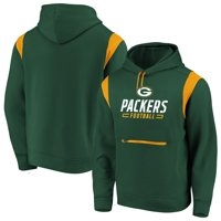 Green Bay Packers NFL Pro Line by Fanatics Branded Iconic Overdrive Pullover Hoodie - Green/Gold