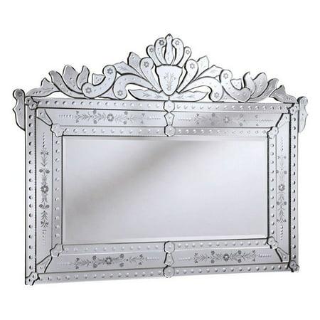 Elegant Furniture ; Lighting Venetian Wall Mirror - 59W x 45H in.