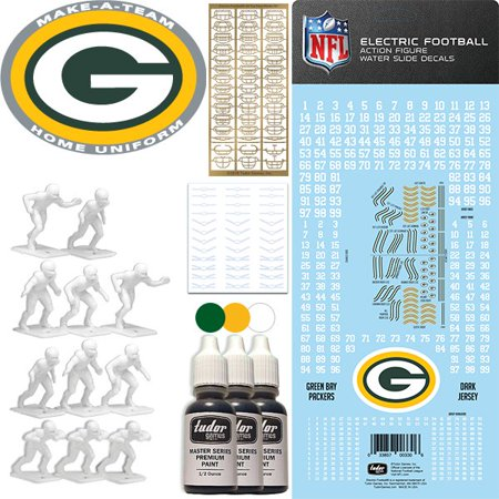 new concept 44f6d 73734 Green Bay Packers NFL Home Uniform Make-A-Team Kit for Electric Football