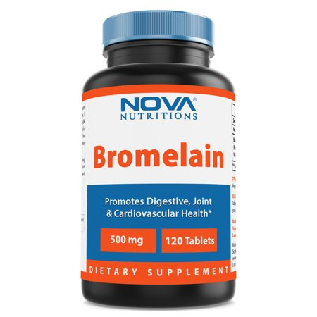 Bromelain 60 Tablets - Nova Nutritions Bromelain 500 mg - 120 Tablets