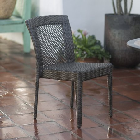 Coral Coast Brisbane All-Weather Wicker Open Patio Dining Chair - Set of 2 ()