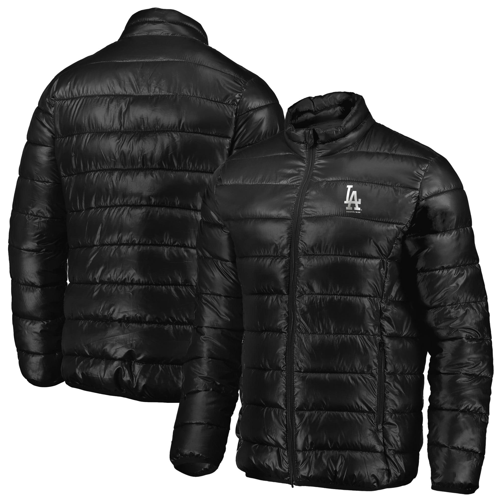 Los Angeles Dodgers Fanatics Branded Full-Zip Puffer Jacket - Black