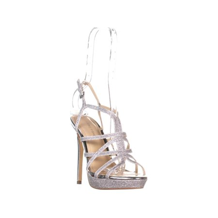 Marc Fisher Jaslyn Strappy Sandals, Silver Texture - image 6 of 6