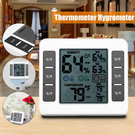 Indoor thermometer Humidity Monitor Weather Station with Temperature Gauge Humidity Meter Hygrometer ()