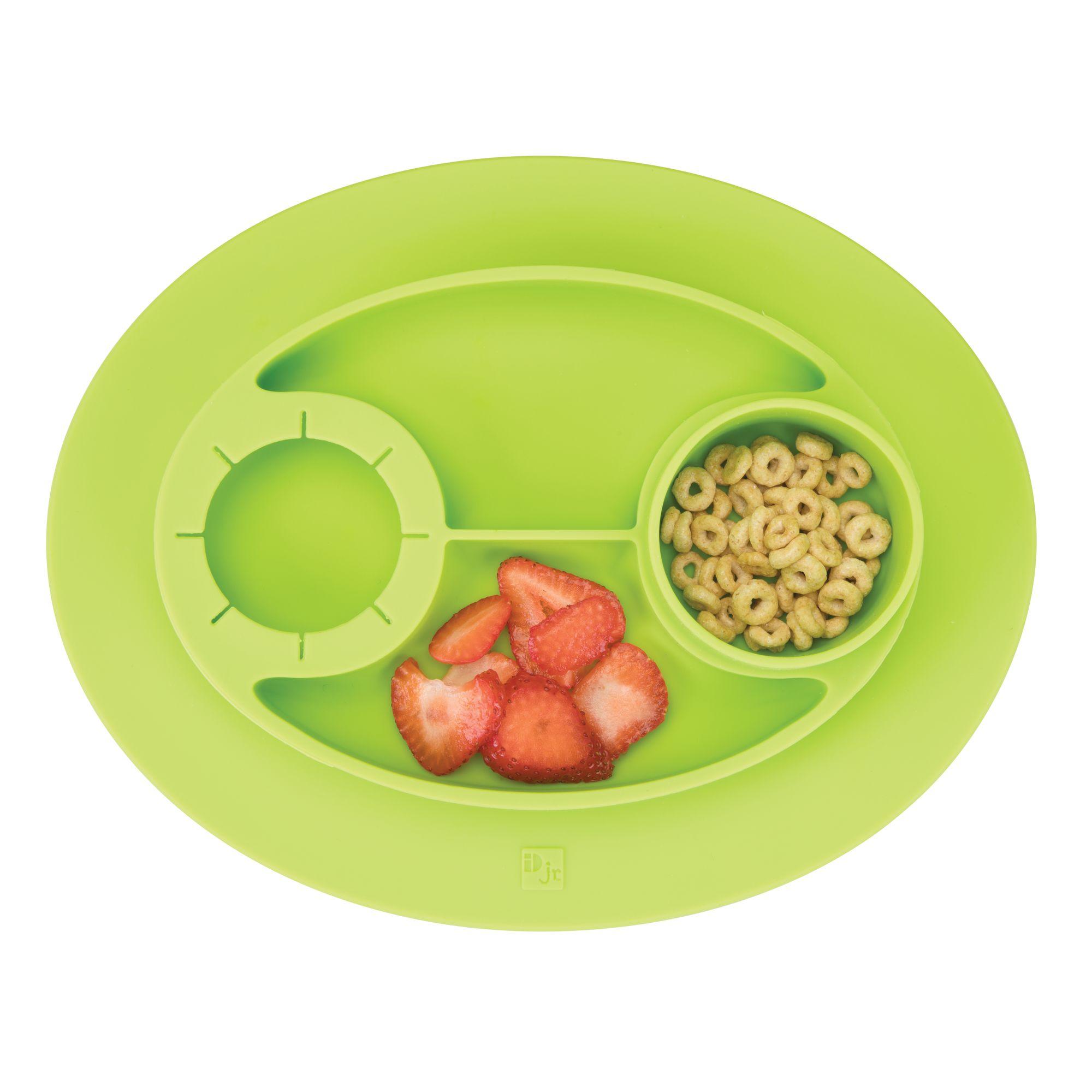 InterDesign Non-slip Silicone Mini Oval Placemat, Lime Green