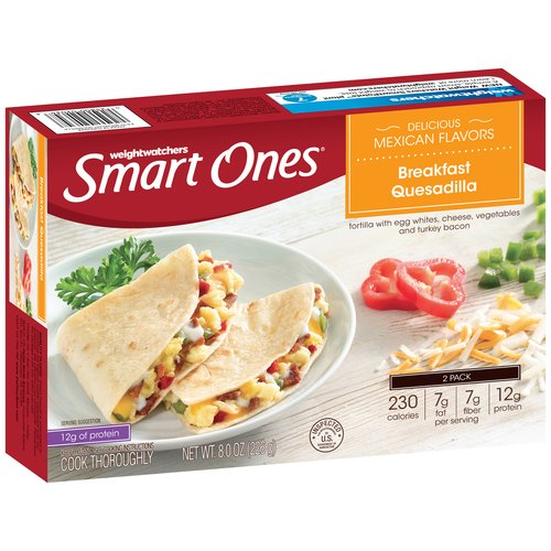 Weight Watchers Smart Ones Delicious Mexican Flavors Breakfast Quesadilla, 2 count, 8 oz