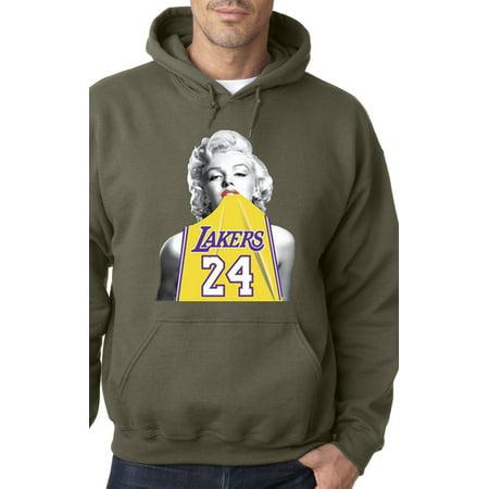 456f4989563 New Way - 412 - Hoodie Marilyn Monroe Lakers 24 Kobe Bryant Jersey  Sweatshirt - Walmart.com