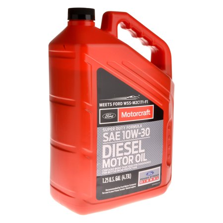 Motorcraft super duty diesel motor oil 10w30 5 quart jug for How to get motor oil out of jeans