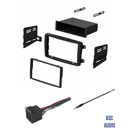 ASC Audio Car Stereo Radio Install Dash Kit, Wire Harness, and Antenna Adapter to Add an Aftermarket Radio for some 2001 2002 2003 2004 Mercedes C Class C230 C240 (Mercedes C Class White With Black Roof)