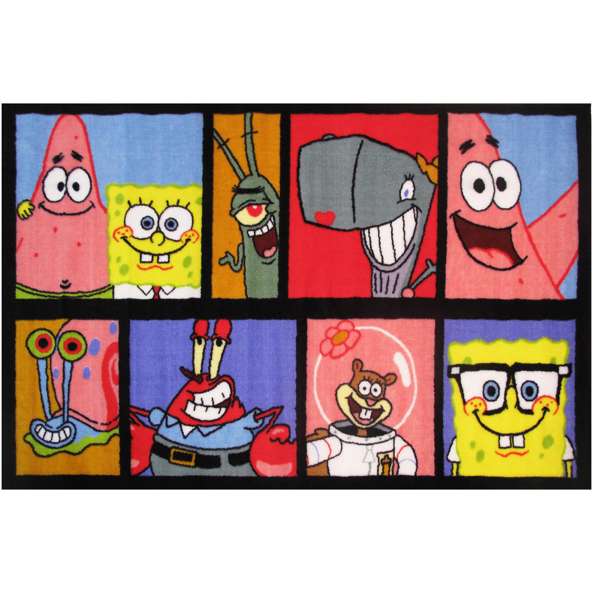 """Fun Rugs Nickelodeon Spongebob Comic Kids Rugs 19"""" x 29"""" Rug"""