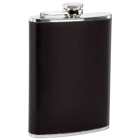 Garter With Flask (Maxam® 8oz Stainless Steel Flask with Black)