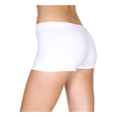 Seamless Spandex Boy Shorts - White (White Matte Spandex)
