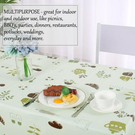 "Tablecloth PVC Rectangle Table Cover Oil Resistant Table Cloth 39"" x 63"", #5 - image 6 de 7"