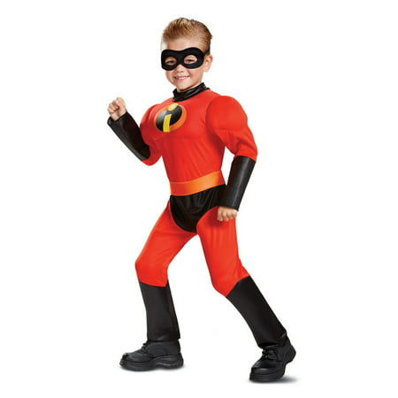 Incredibles 2 Dash Toddler Classic Muscle Costume (Red Incredible Hulk Halloween Costume)