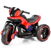 Topbuy Kids Ride-on Motorcycle 6V 3-Wheeled Battery Powered Electric Bicycle Toy w/ MP3