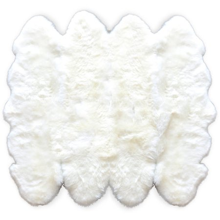 - 100% New Zealand Sheepskin Octo Rug, 6'6