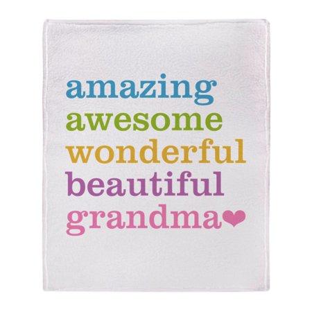 "CafePress - Amazing Grandma - Soft Fleece Throw Blanket, 50""x60"" Stadium Blanket"