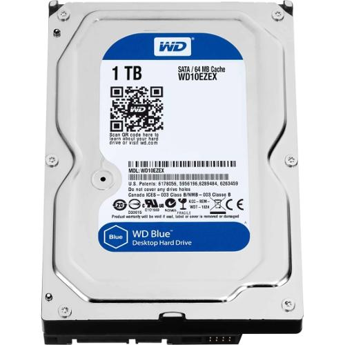 WD Blue 1 TB 3.5-inch SATA 6 Gb/s 7200 RPM PC Hard Drive - SATA - 7200 - 64 MB Buffer