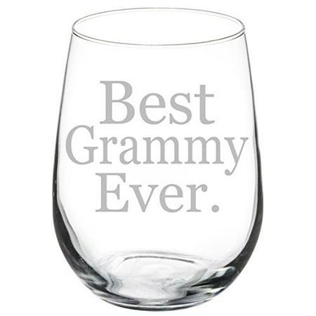 Wine Glass Goblet Grandma Grandmother Best Grammy Ever (17 oz