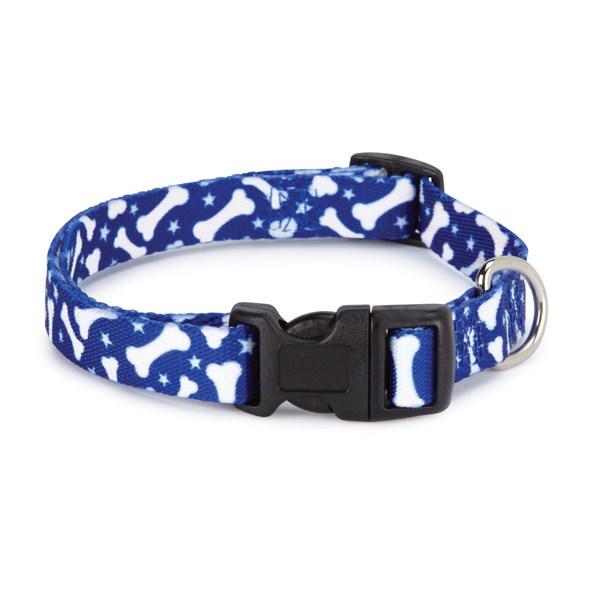 Casual Canine Patterns Collar Bone 18-26in Blu