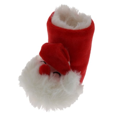 Gold Medal Toddler Baby Christmas Santa Slipper Booties, Size 1-7, Fits 12-24 Months