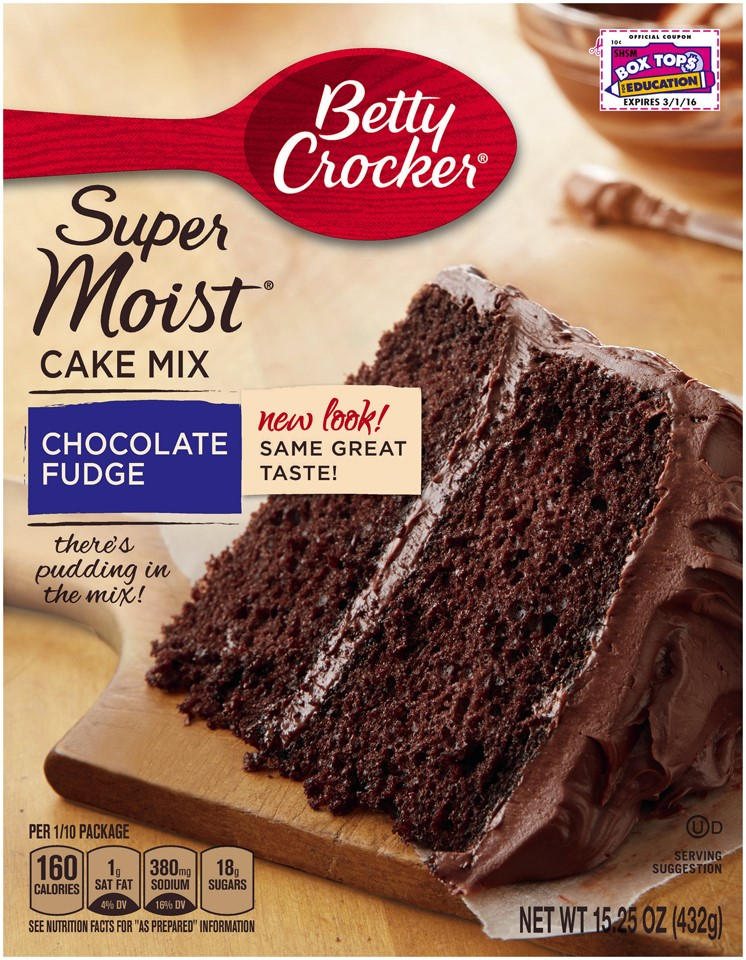 Betty Crocker Super Moist Chocolate Fudge Cake Mix, 15.25 Oz by General Mills